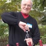 Man at Annual Wine Tasting Event