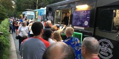 Crowds at Food Truck Night