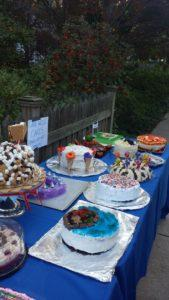 Desserts on a Table at the Park
