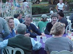 R. Weill and Other Residents at the Party in the Park